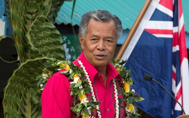 Cook Islands Prime Minister Henry Puna speaks at the 50th anniversary of self government for the Cook Islands. 2015