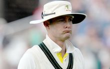 Michael Clarke at the end of the disastrous 1st day of the 4th Ashes Test, 2015.