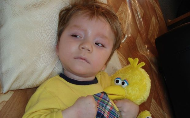 William lost his sight, hearing and ability to move unaided as a result of the meningitis.