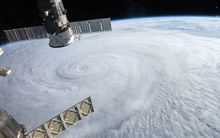 This image from August 8, 2015 taken from the International Space Station (ISS) shows Typhoon Soudelor as it advanced on Taiwan. AFP PHOTO/NASA/ISS
