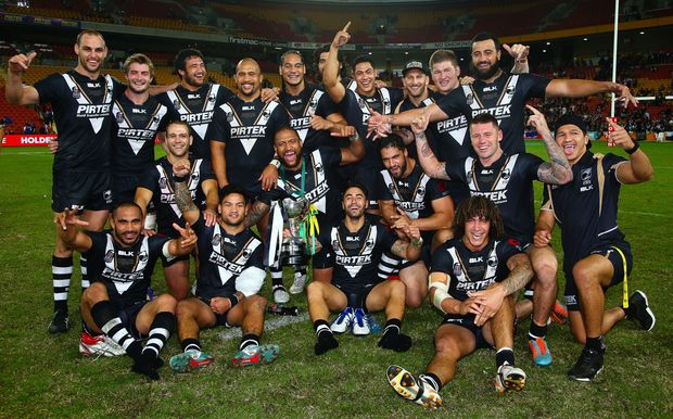 The Kiwis celebrate a rare ANZAC test win over Australia.