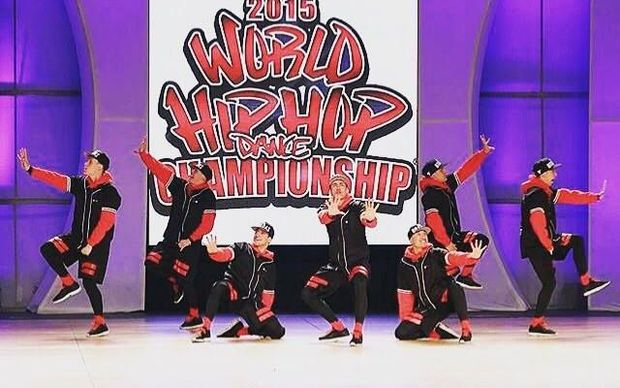 The Bradas dance crew at the 2015 World Hip Hop Dance Champs in San Diego.