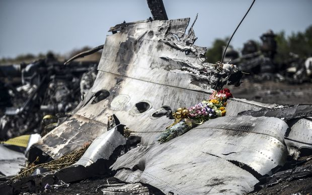 Wreckage of Malaysia Airlines flight MH17 in eastern Ukraine, a week after the plane came down.