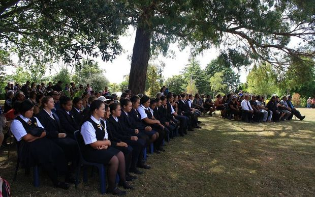 Students at Turakina Maori Girls' School.