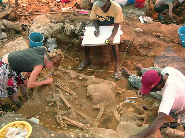 Archaeological excavations at Teouma.