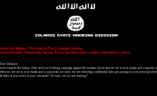 A screenshot from the list, published by the 'Islamic State Hacking Division'