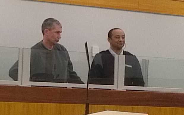 Anthony Newton in the dock in the Wellington District Court.