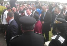 John Key arrives at the marae.
