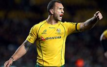 Quade Cooper during the Bledisloe Cup  at Eden Park, Auckland, 2012.