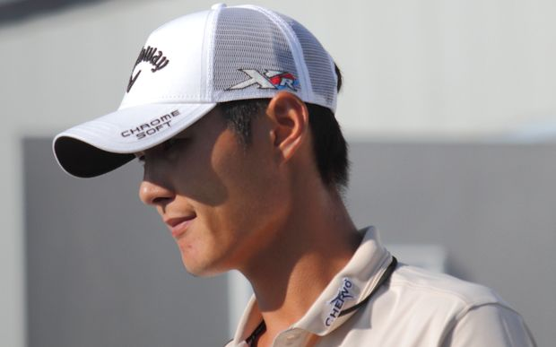 Danny Lee on day three of the PGA Championship at Whistling Straits, 2015.