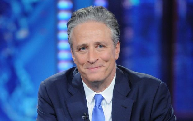"Jon Stewart hosts ""The Daily Show with Jon Stewart"" #JonVoyage on August 6, 2015 in New York City. Brad Barket/Getty Images for Comedy Central/AFP"