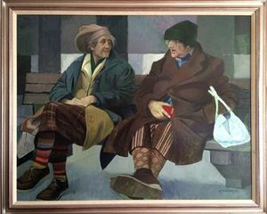 Two Auld Wifies by Ron Stenberg.