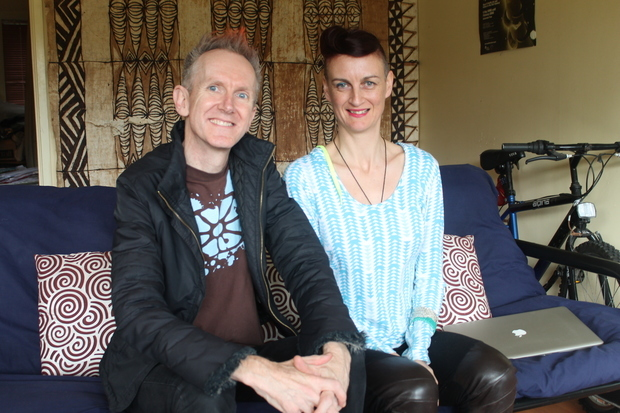 Paddy Free musician and Louise Potiki Bryant choreographer for In Transit a collaboration for New Zealand Company
