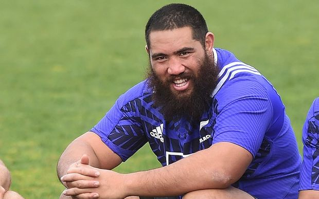 All Blacks prop Charlie Faumuina.