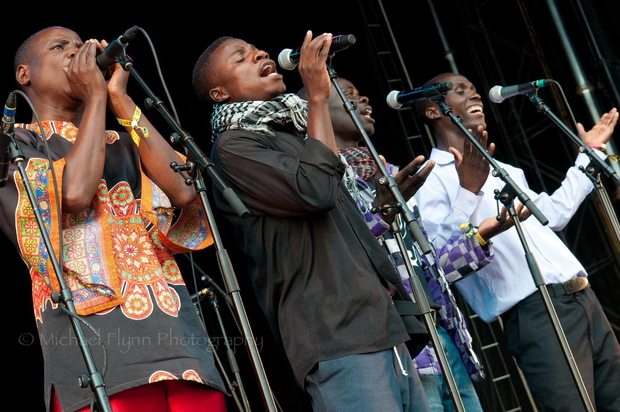 Malawi Mouse Boys on stage at WOMAD Taranaki 2015