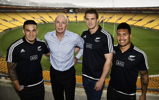 Sonny Bill Williams, Gordon Tietjens, Scott Curry and Ardie Savea
