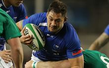 Jack Lam playing for Samoa against Ireland in 2013.