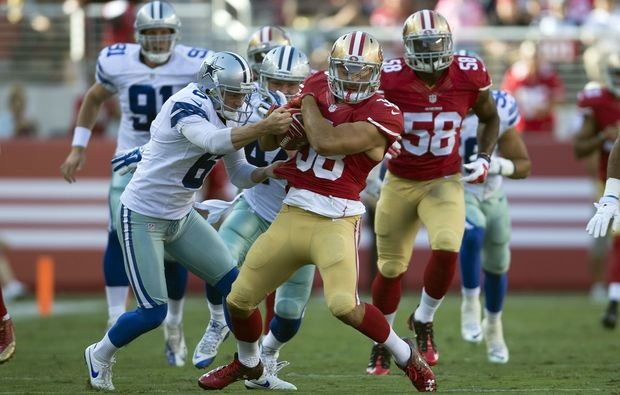 Jarryd Hayne playing for the San Francisco 49ers 2015.