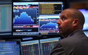 A trader on the floor of the New York Stock Exchange on Monday.