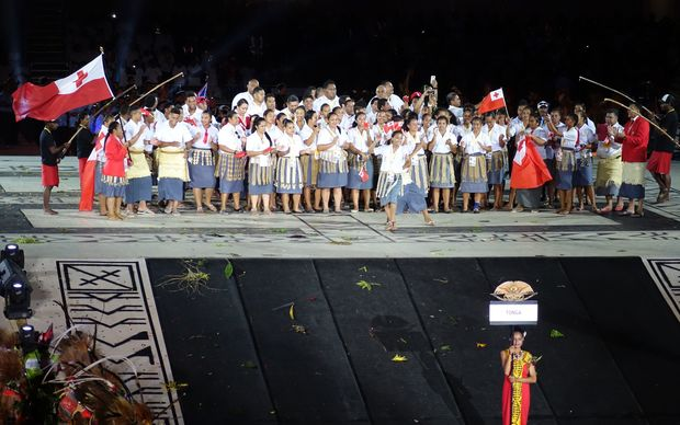 Team Tonga at the 2015 Pacific Games in Port Moresby.