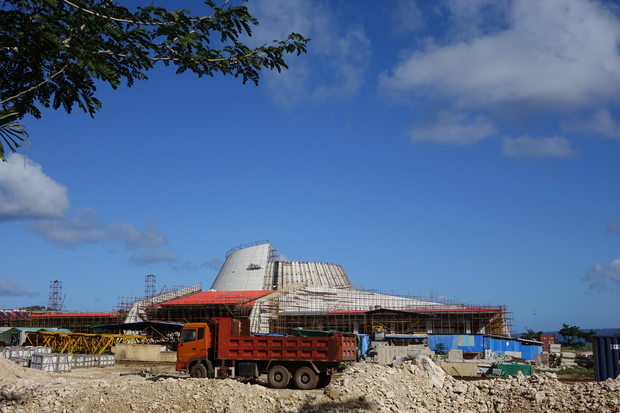 In Port Vila, the construction of a new convention centre is underway.