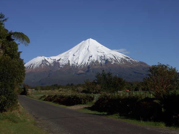 Mt Taranaki is one of New Zealand's most distinctive volcanoes.