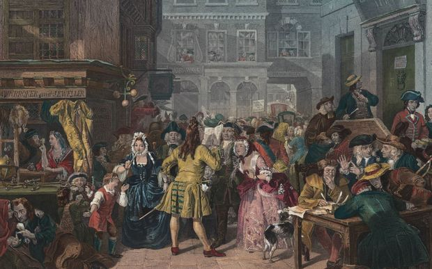 The South Sea bubble caused panic among London's Georgian investors.
