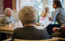 Dementia patients in a housing complex in Hameln, Germany.