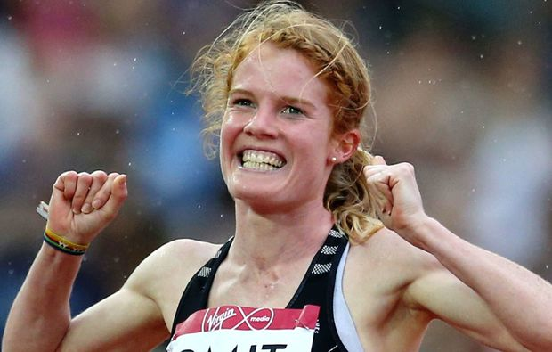 New Zealand's Angie Petty competing in the 800m at the World Championships in Beijing.