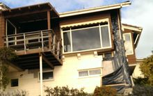 A quake-damaged Redcliffs home.