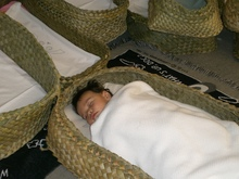 A baby in a wahukura (file photograph).
