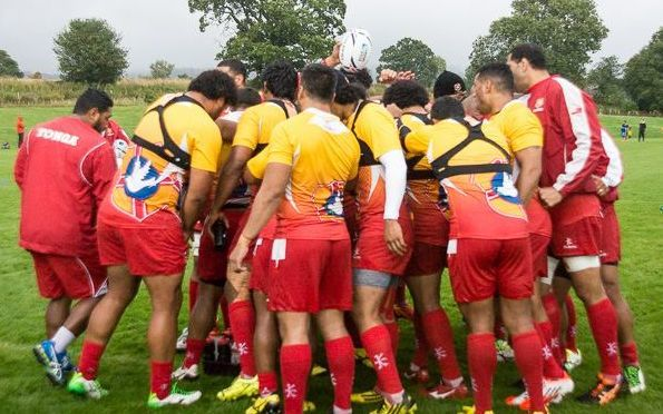 Tonga train ahead of the Rugby World Cup.