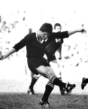Robbie Deans during his time as an All Black.
