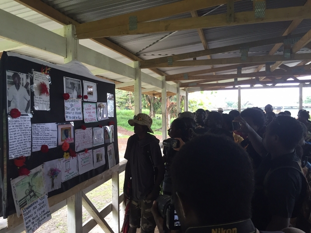 Message board for family and wantoks of missing people in Bougainville.