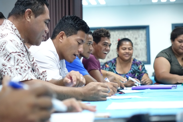 Youth meeting in Samoa.