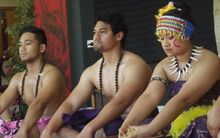 Samoan students perform the Ava ceremony at So'otaga 2014.