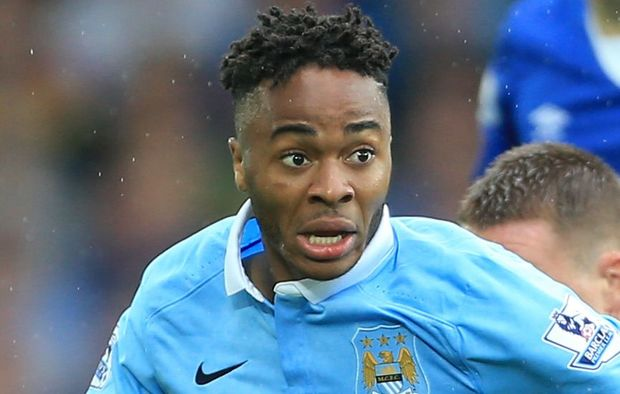 Manchester City's Raheem Sterling in EPL action.