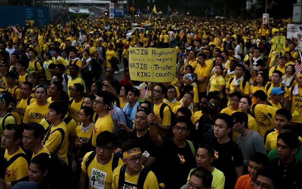 Police estimated 25,000 people participated in Saturday's demonstration, while organisers said 200,000 took part at its peak.