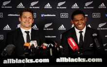 All Blacks caption Richie McCaw (left) and Waisake Naholo.