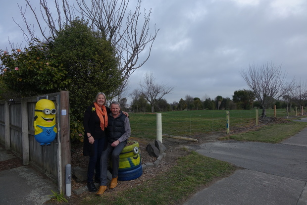 Brent and Shirley Cairns' Kaiapoi home is now surrounded by bare land, after almost all of their neighbours accepted buy out offers from the Government.