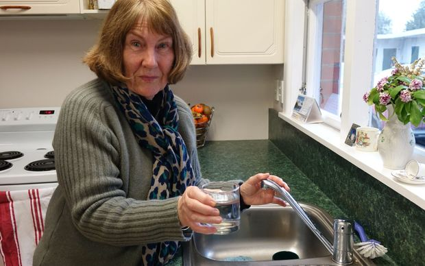 Anna Youngman has concerns about her drinking water after Winstones quarry into an aquifer.