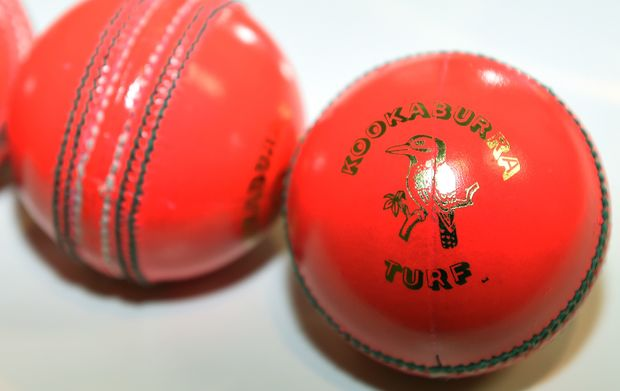 The pink balls which will be used in the inaugural day-night test in Adelaide.