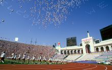 Los Angeles Memorial Coliseum during 1984 Olympics
