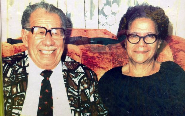 Pousima Afeaki and his wife Lisia. Friends of author of 'Being Palangi'  Tony Haas.