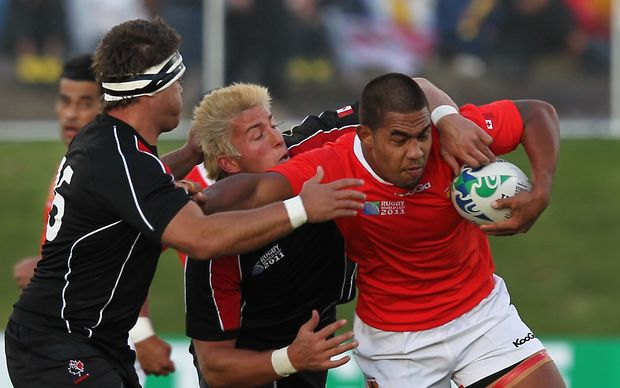 Former Tonga flanker Sione Vaiomo'unga at the 2011 Rugby World Cup.