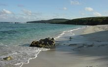 Unai Dankulo beach on the east side of Tinian Island