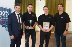 Westmere Butchery in Auckland won ham of the year.