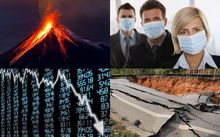 Four of the major disasters which are of the greatest economic threat to New Zealand.