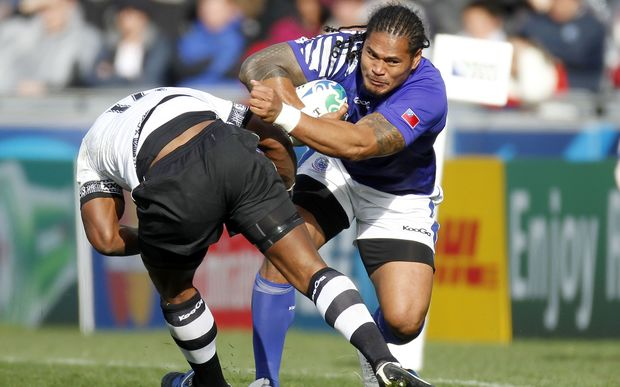 Alesana Tuilagi of Samoa during the 2011 Rugby World Cup.