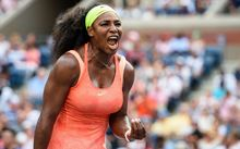 02.09.2015. New York City, NY, USA. U.S. Serena Williams (USA) during the 2015 U.S. Open Tennis Championships at the USTA Billie Jean King National Tennis Center in Flushing, Queens, New York, USA